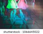 legs of dancing people party. | Shutterstock . vector #1066645022