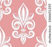 Pink And White Fleur De Lis...
