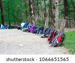 horizontal shot of a row of... | Shutterstock . vector #1066651565