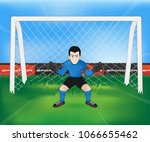 football goalkeeper player... | Shutterstock .eps vector #1066655462