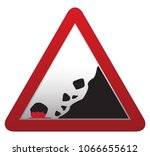 a triangular rocks falling... | Shutterstock .eps vector #1066655612
