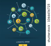 abstract logistic and... | Shutterstock .eps vector #1066656725