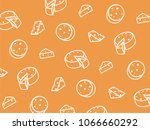 vector cheese pattern. | Shutterstock .eps vector #1066660292