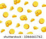 vector illustration of cheese. | Shutterstock .eps vector #1066661762