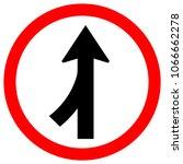 merge join way left traffic... | Shutterstock .eps vector #1066662278