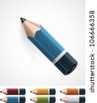 vector pencil icon | Shutterstock .eps vector #106666358