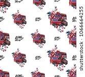 retro british seamless pattern... | Shutterstock .eps vector #1066664255