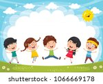vector illustration of funny... | Shutterstock .eps vector #1066669178