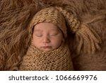 sleeping newborn baby in...   Shutterstock . vector #1066669976
