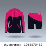 fitness sport wear for female | Shutterstock .eps vector #1066670492