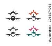 plane crash icon | Shutterstock .eps vector #1066674086