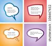 web design speech bubble set | Shutterstock .eps vector #106667612