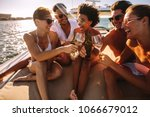 multiracial group of people... | Shutterstock . vector #1066679012