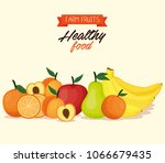 delicious fruits healthy food | Shutterstock .eps vector #1066679435