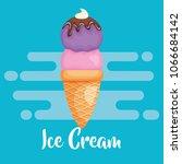 delicious ice cream icon | Shutterstock .eps vector #1066684142