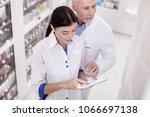 mutual help. top view of... | Shutterstock . vector #1066697138