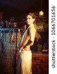 young elegant seductive woman...   Shutterstock . vector #1066701656