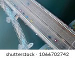 aerial view of flyover  ... | Shutterstock . vector #1066702742