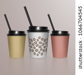 set of coffee cup   mockup...   Shutterstock .eps vector #1066704545