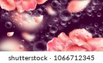floral background with flowers  ... | Shutterstock .eps vector #1066712345