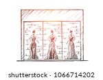 vector hand drawn fashion store ... | Shutterstock .eps vector #1066714202