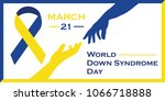 world down syndrome day vector... | Shutterstock .eps vector #1066718888