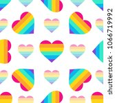 seamless vector pattern with... | Shutterstock .eps vector #1066719992
