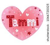 tammi feminine given name   Shutterstock .eps vector #1066720325