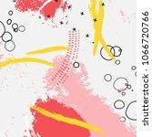vector dymanic brush stroke... | Shutterstock .eps vector #1066720766