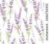 lavender flower bouquets purple ... | Shutterstock .eps vector #1066732352