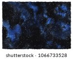 cosmic starry background.... | Shutterstock . vector #1066733528