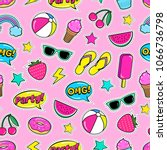 cute summer seamless colorful...   Shutterstock .eps vector #1066736798