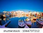 lofoten  norway  april  10 ... | Shutterstock . vector #1066737212