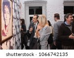 people view the painting by... | Shutterstock . vector #1066742135
