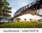 sydney harbour bridge sunset   Shutterstock . vector #1066742576