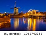 cityscape   evening view of the ... | Shutterstock . vector #1066743356