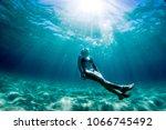 underwater surf swim   Shutterstock . vector #1066745492