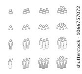 people icons line work group... | Shutterstock .eps vector #1066757072