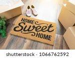 home sweet home welcome mat ... | Shutterstock . vector #1066762592