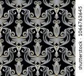 elegant baroque 3d seamless...   Shutterstock .eps vector #1066763645