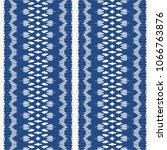 ikat seamless pattern. vector... | Shutterstock .eps vector #1066763876