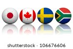Football (soccer) at the 2012 Summer - Women's tournament Group F (Japan,Canada,Sweden,South Africa) - stock photo