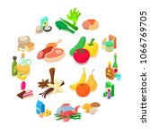 food shopping icons set.... | Shutterstock .eps vector #1066769705