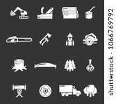 timber industry icons set...   Shutterstock .eps vector #1066769792