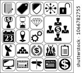 set of 22 business high quality ... | Shutterstock .eps vector #1066782755