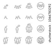 people icons line work group... | Shutterstock .eps vector #1066783292