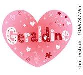 geraldine   feminine given name ...   Shutterstock .eps vector #1066787765