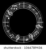 music note with music symbols | Shutterstock .eps vector #1066789436