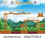 a treasure hunting game pirate... | Shutterstock .eps vector #1066791812