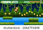 A Monkey Jumping Game In Jungl...